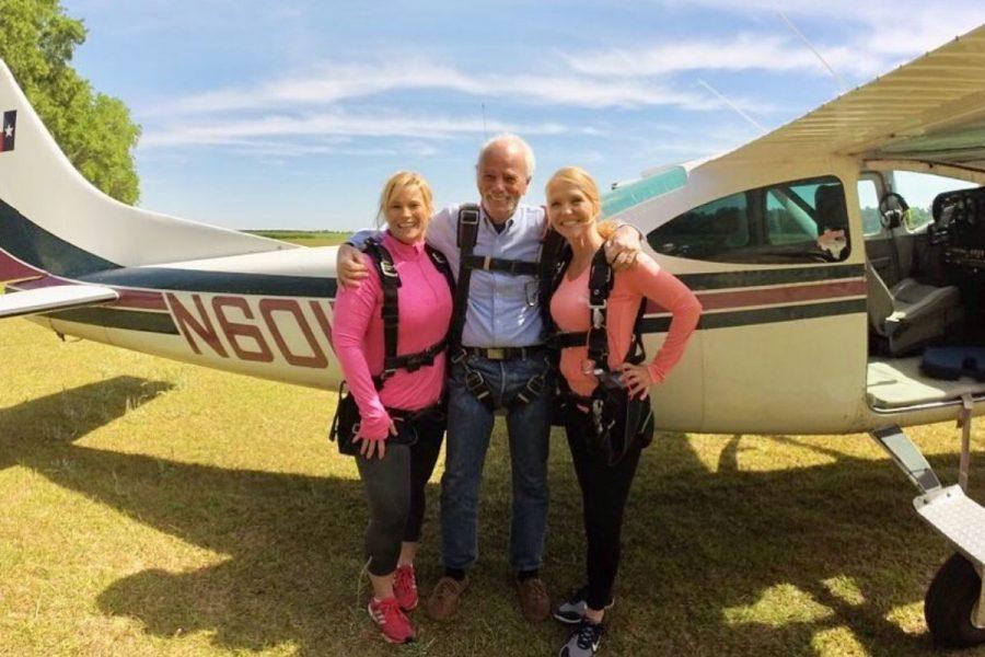 Family preparing to go skydiving at Skydive STL