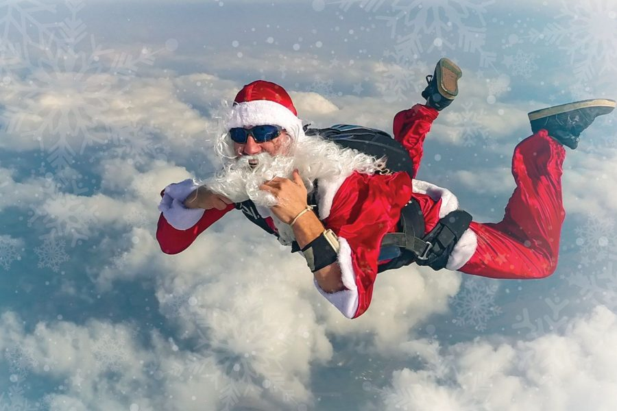 Santa Skydiving for Black Friday deals at Skydive St Louis
